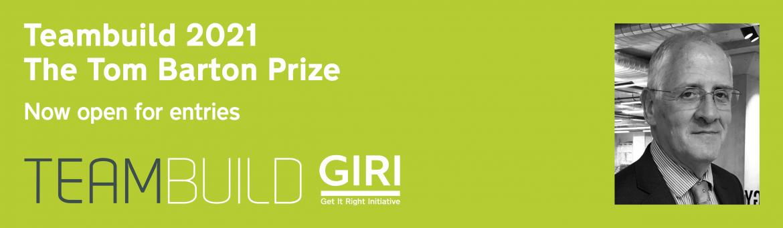 GIRI sponsors Teambuild prize in memory of Tom Barton
