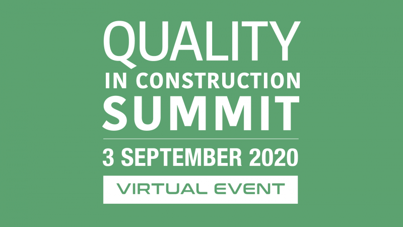 Join us in September for the Quality in Construction summit