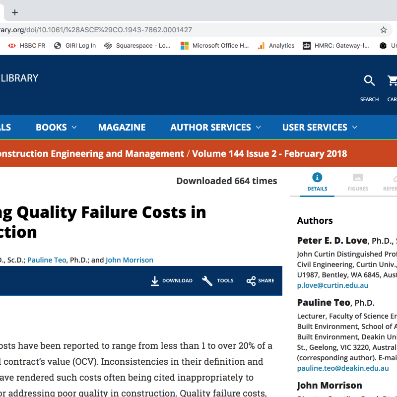 Industry Article: Revisiting Quality Failure Costs in Construction