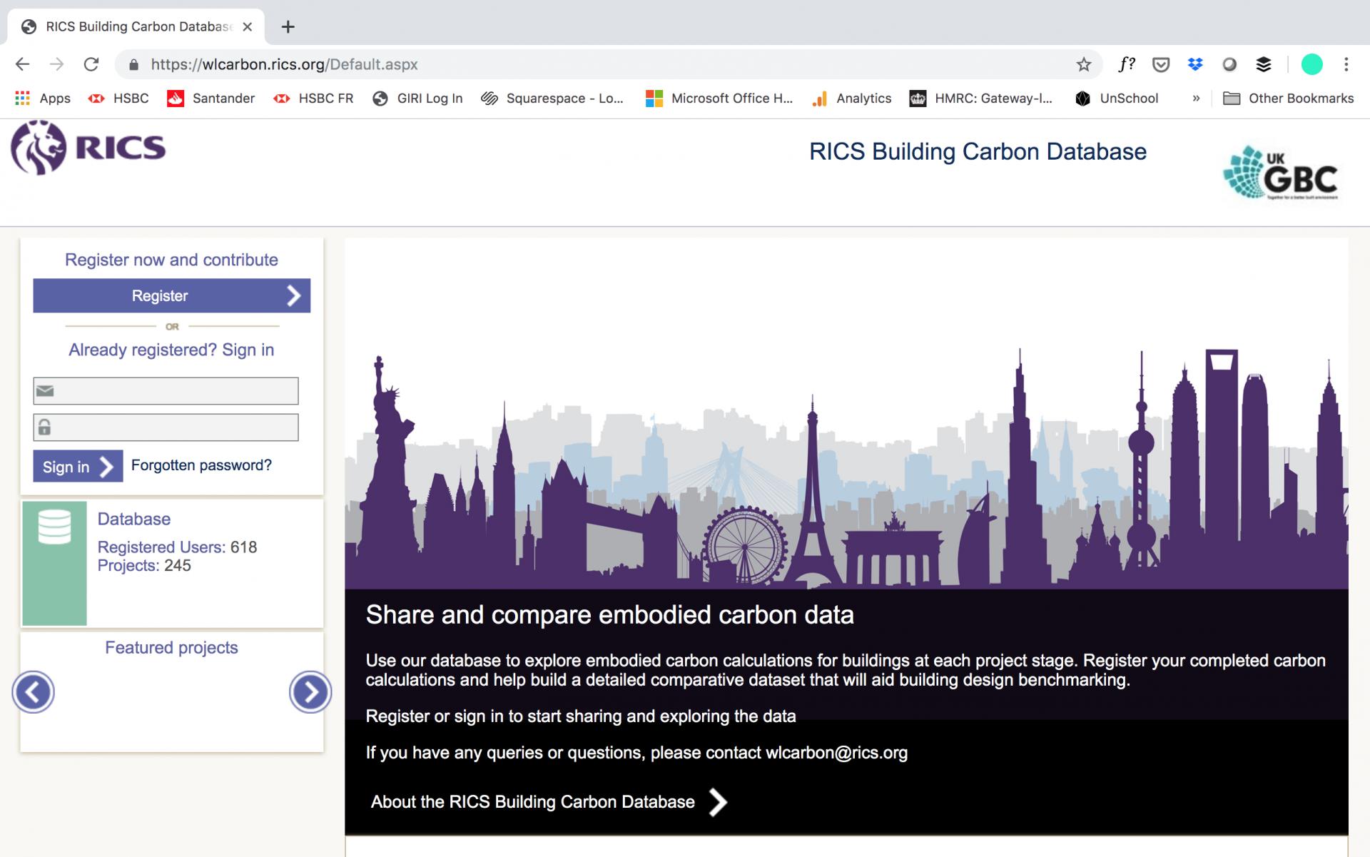 RICS Building Carbon Database