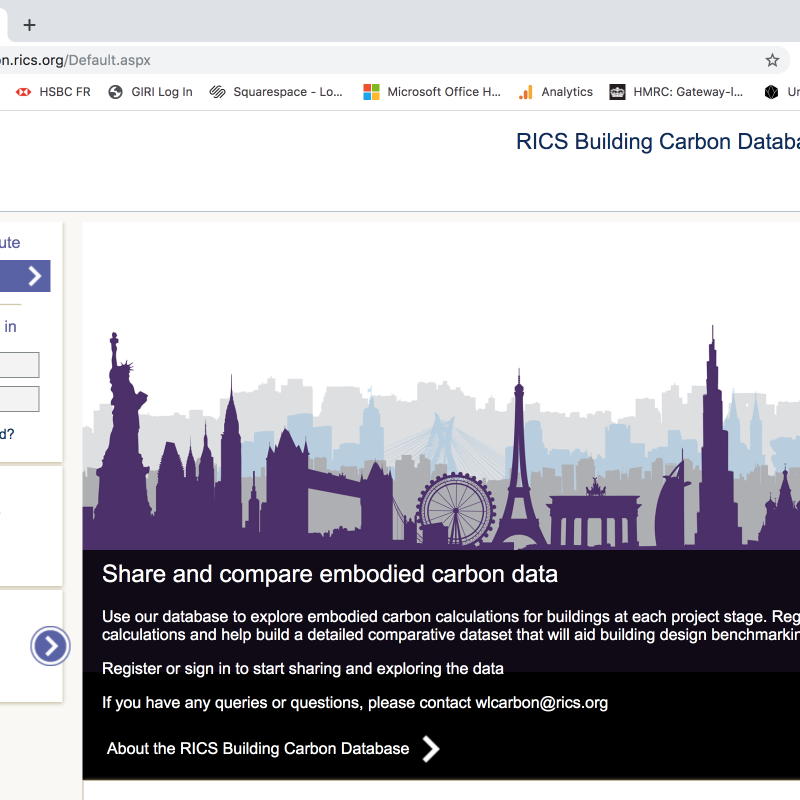 RICS Building Carbon Database